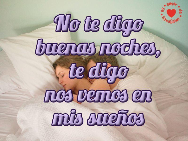 Linda Imagen De Pareja Con Frase De Buenas Noches Frases