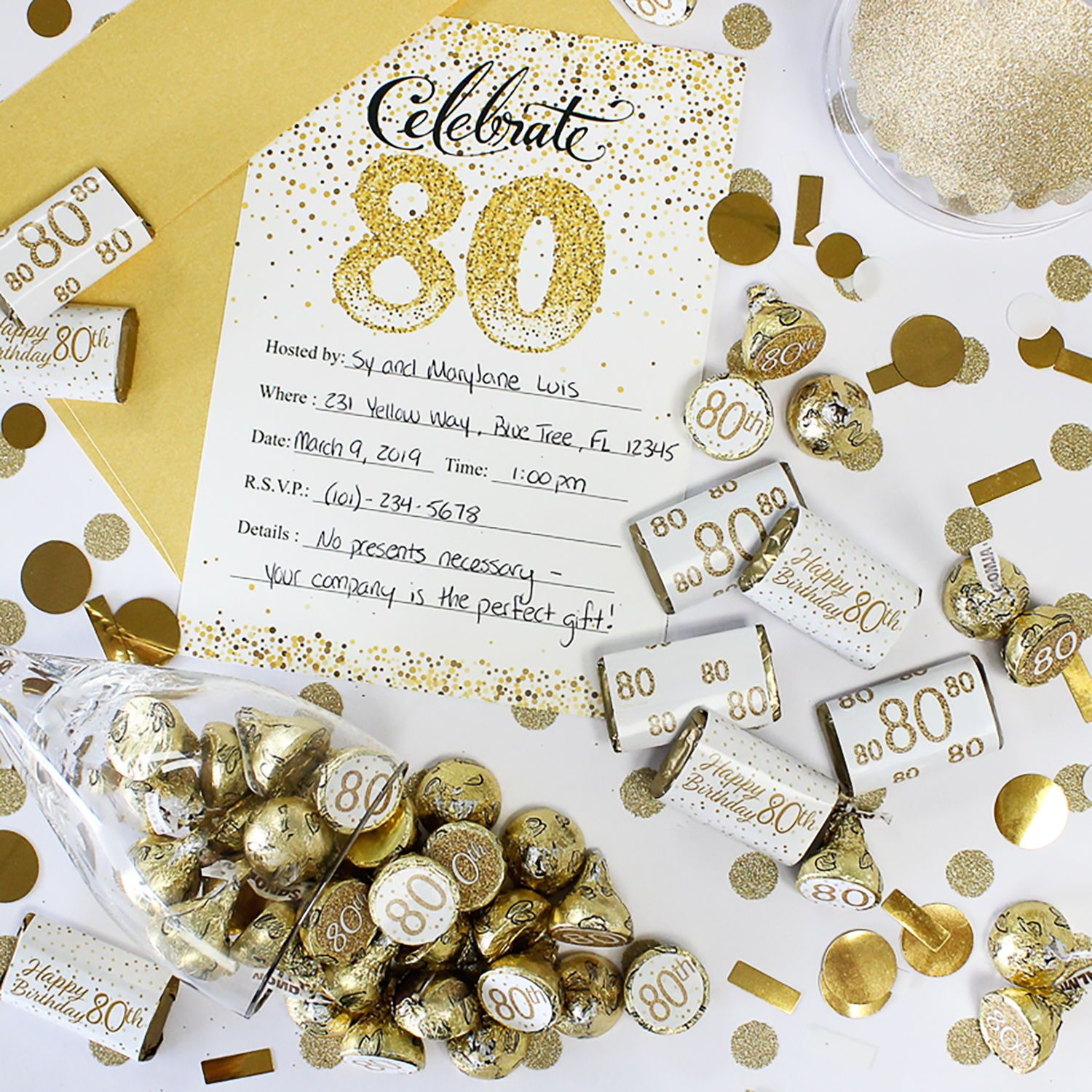 40th Birthday Party Hersheys Kisses Favor Labels Stickers 270 Stickers(shiny Gold laser) 40th Birthday Decorations