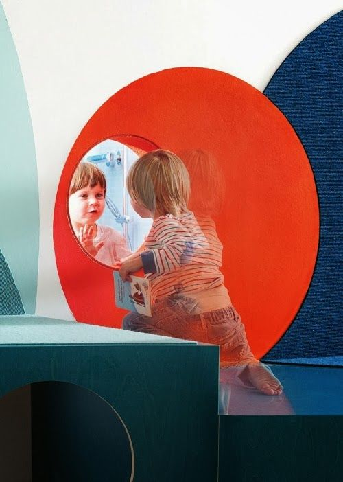 Kita Hisa designed by Baukind in Berlin. Different textures and penetrations invite children to get up close to the interior environment.