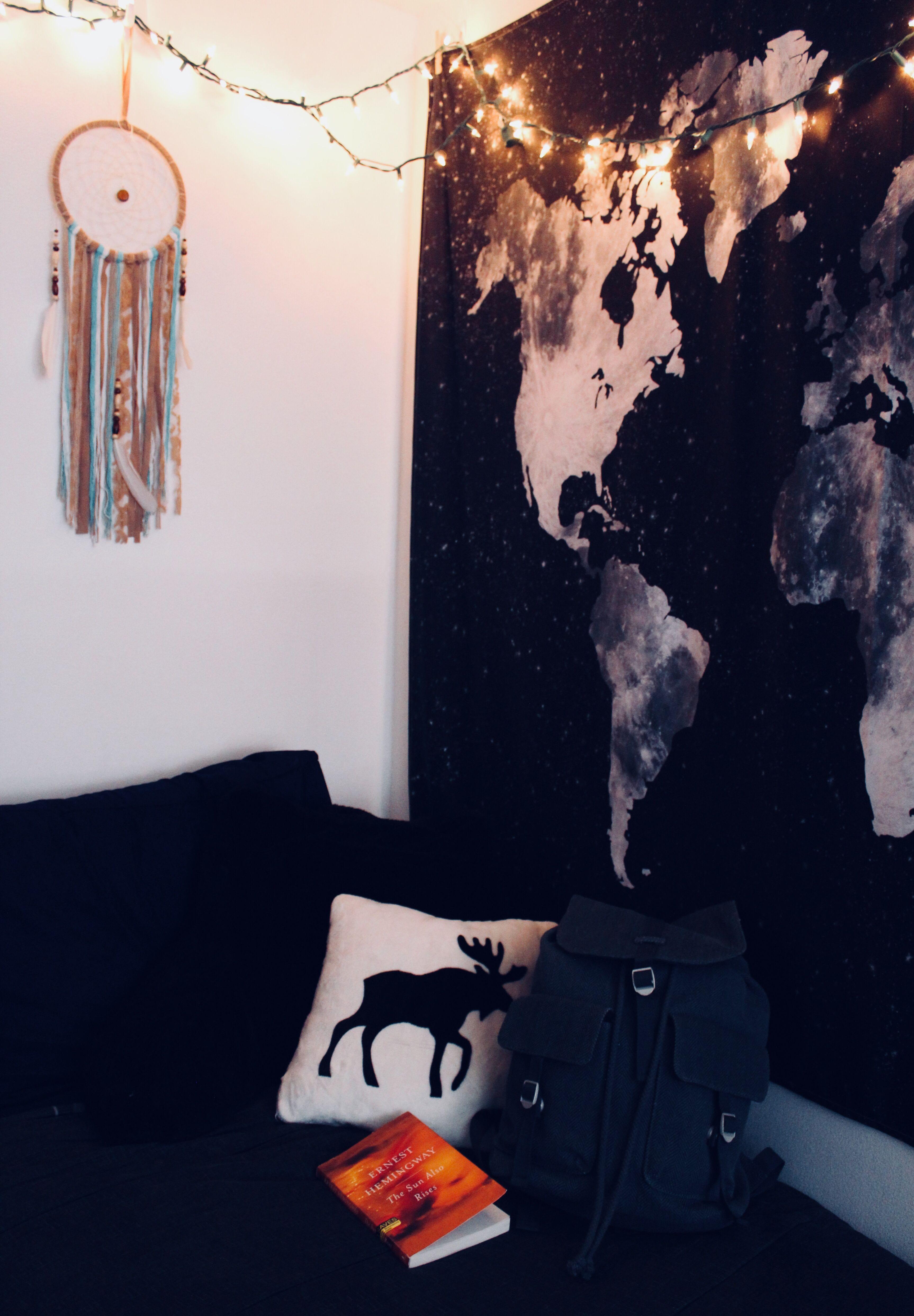 College apartment bedroom #apartment #boho # ...