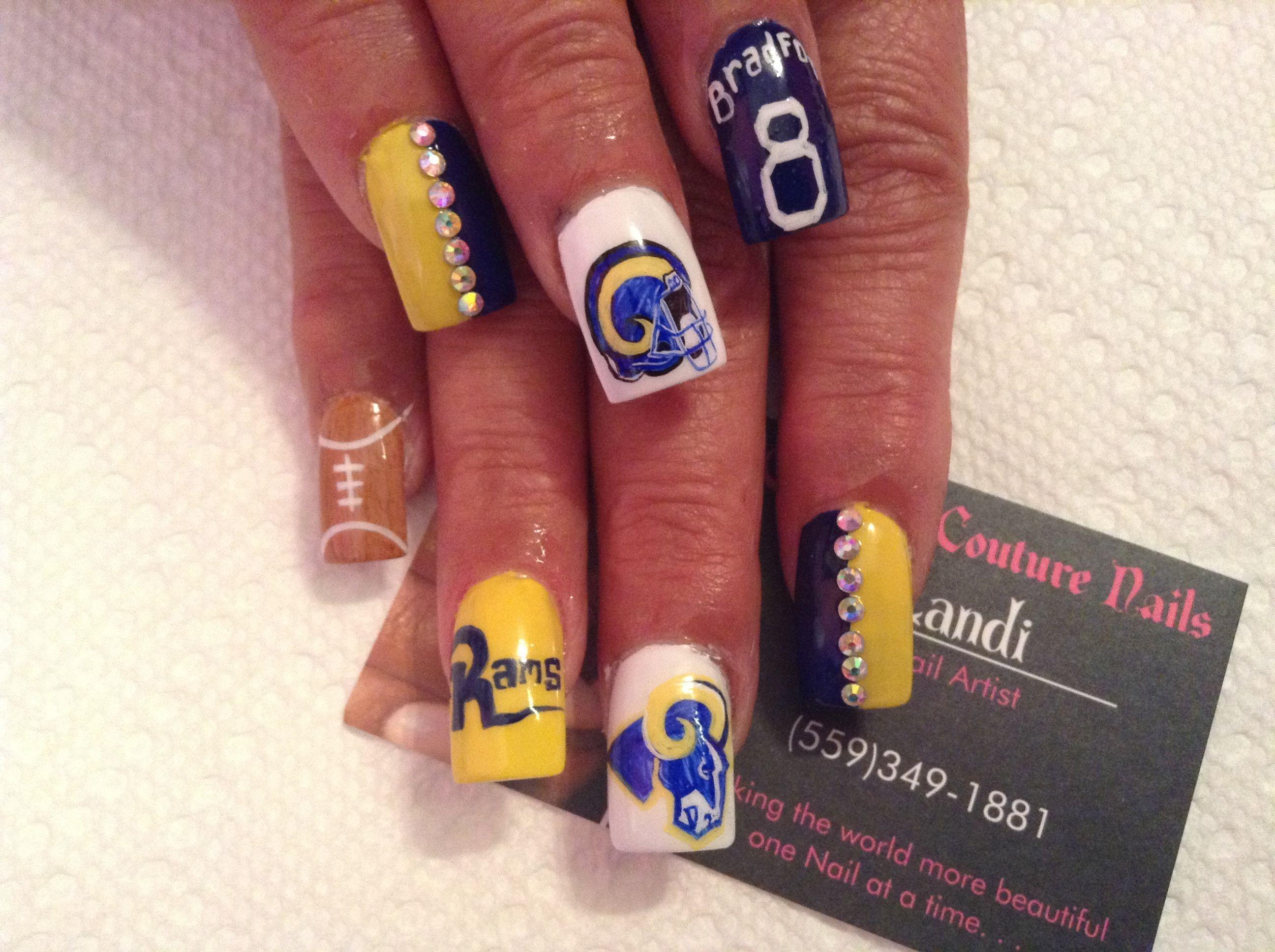 Pin By Landi Nails On Landi Nails Football Nail Designs Football Nails Sports Nails
