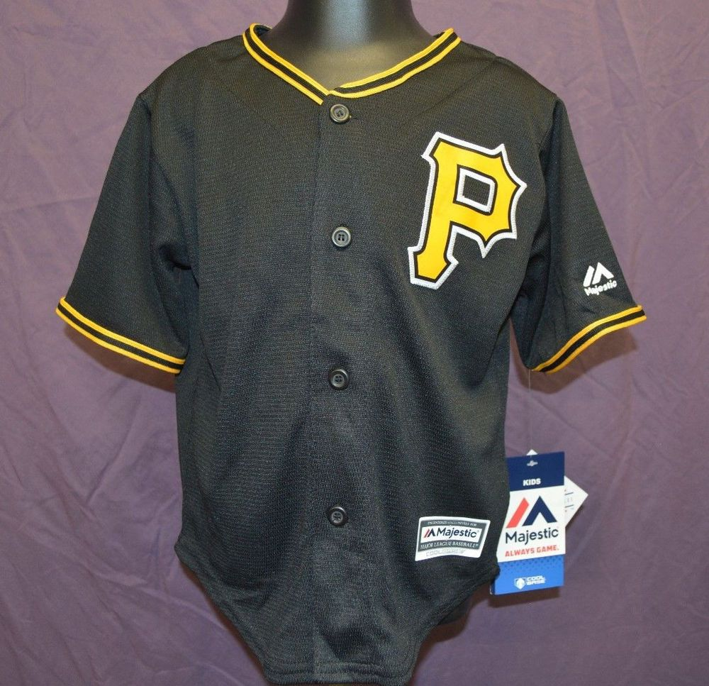 79d20b17cab Majestic MLB Pittsburgh Pirates Toddler Blank Cool Base Jersey LOOK ...