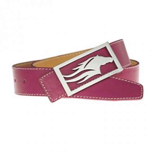 Finest nappa leather in fuchsia with removable DIMACCI stainless steel buckle. #Diamacci