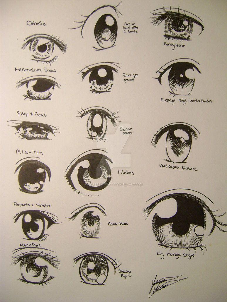 Random Anime Eyes By 33starrynight33 Anime Eye Drawing Anime Eyes Manga Eyes