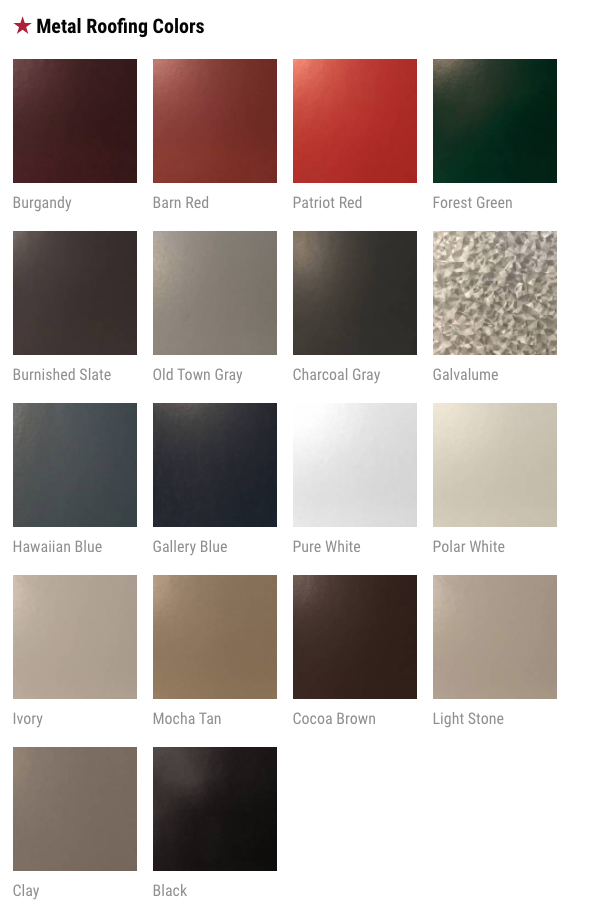 Best Check Out Our Metal Roofing Colors Roof Colors Metal 400 x 300