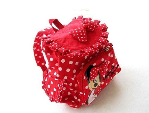 Minnie Mouse Backpack for Girls- Red Minnie Mouse Backpacks ...