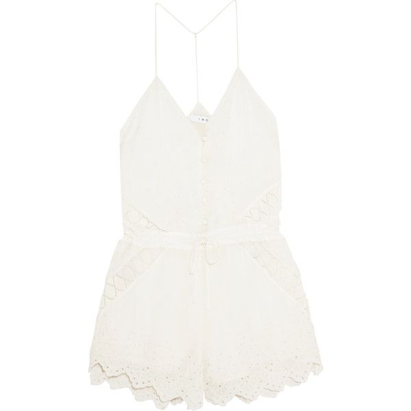 ed8a7acde30c IRO Florya broderie anglaise georgette playsuit ( 165) ❤ liked on Polyvore  featuring jumpsuits