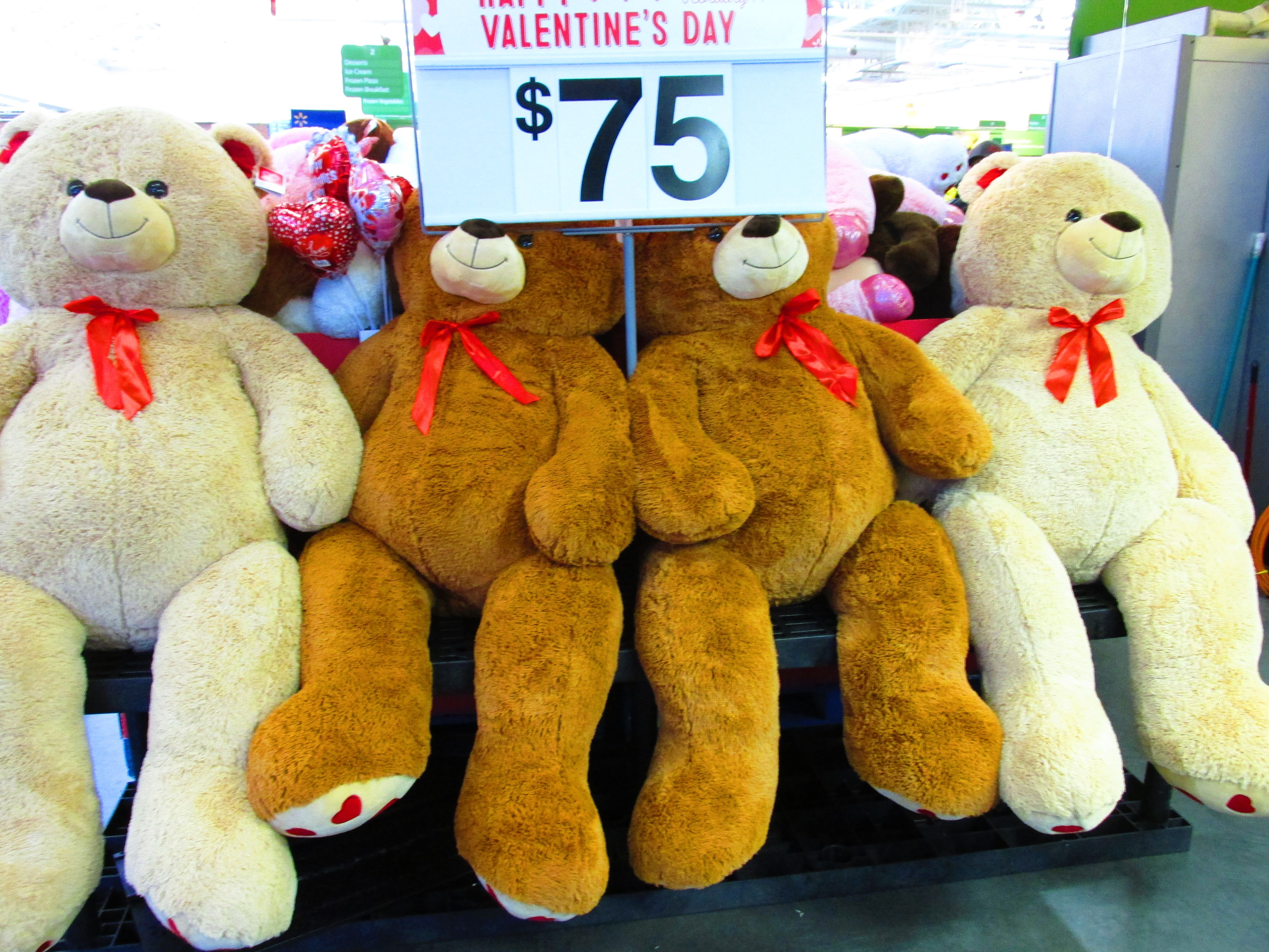 Very Large Bears For $75 Each At Walmart