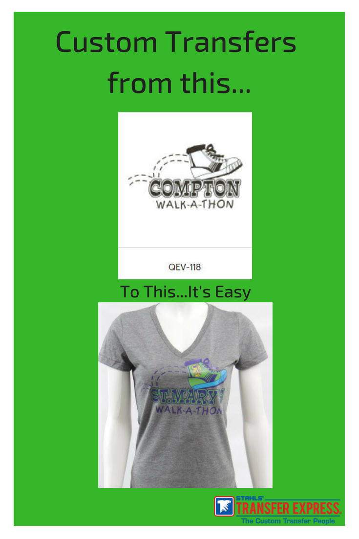 Walk A Thon T Shirts Are Easy With Custom Transfers Choose The