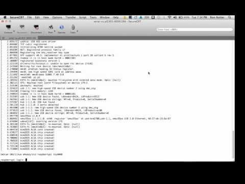 Here is what the boot up process looks like on a Raspberry Pi - http://www.ronnutter.com/mpb6   Use this link to look at all of the Raspberry Pi posts and videos that I have done so far - http://www.ronnutter.com/category/raspberry-pi/