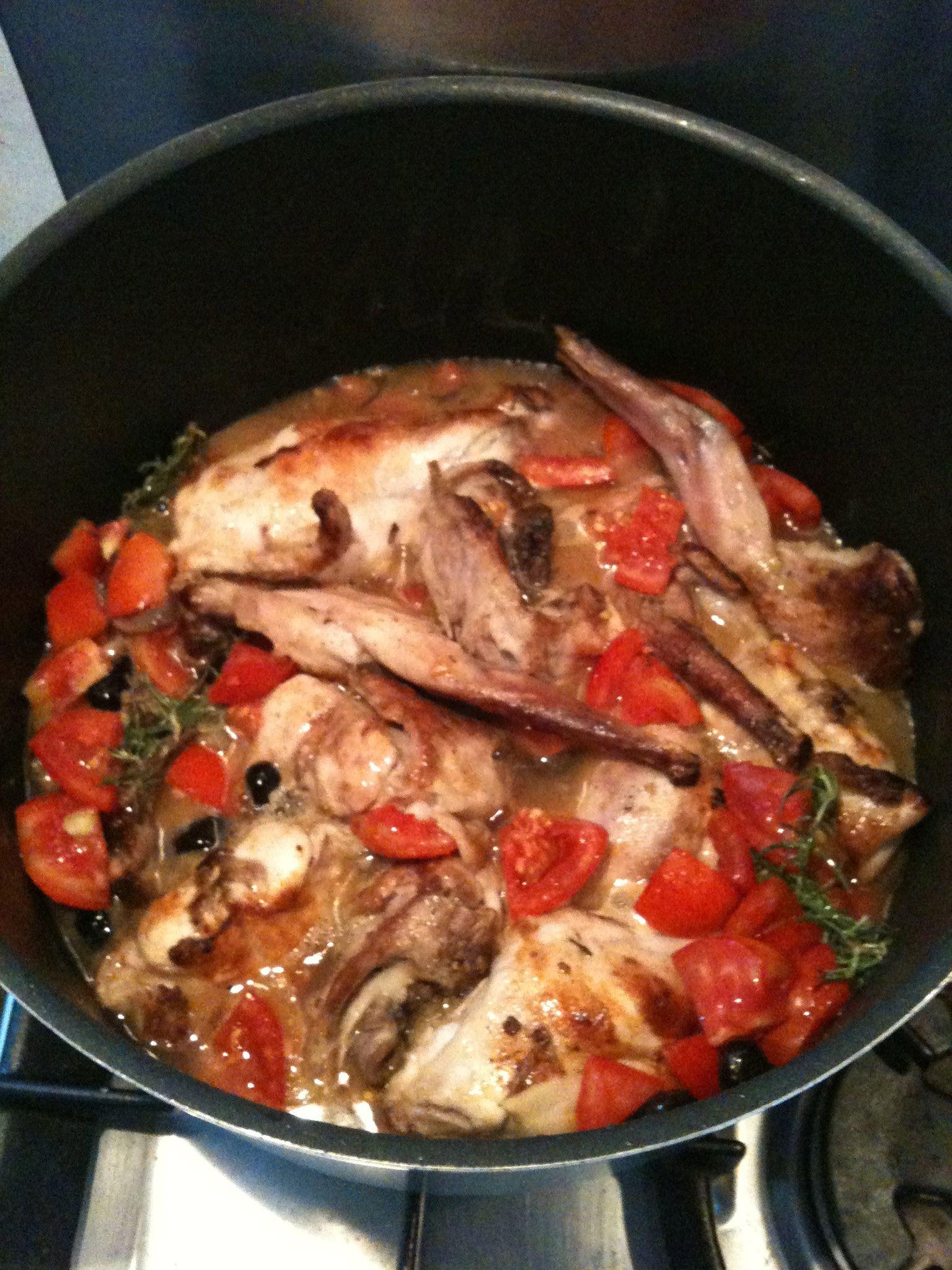 Lapin aux anchois et olives selon la recette de Jamie Oliver, je suis un grand fan de ce plat !