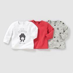2d77f5242dc50 Vêtement bébé fille en solde. T-shirt manches longues (lot de 3) 1 mois-3  ans LES PETITS PRIX - T-shirt