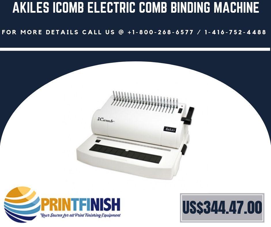Pin by Print Finish on Bindery Equipment | Coil binding