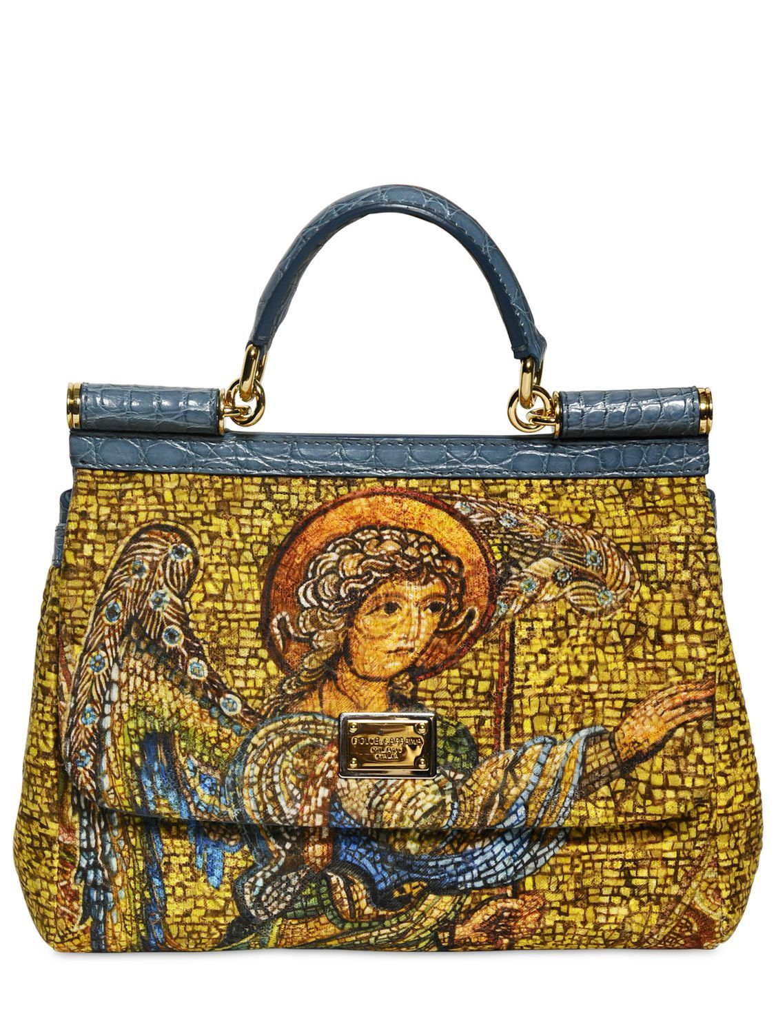 d74f94c6cc DOLCE   GABBANA - EMBROIDERED ANGEL MISS SICILY BAG - LUISAVIAROMA - LUXURY  SHOPPING WORLDWIDE SHIPPING - FLORENCE