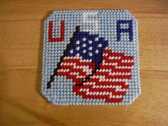 585fdd3e2ec0 Plastic Canvas Coaster Set