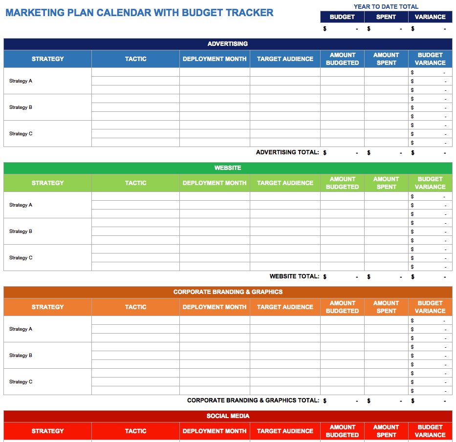 9 Free Marketing Calendar Templates For Excel - Smartsheet | Good