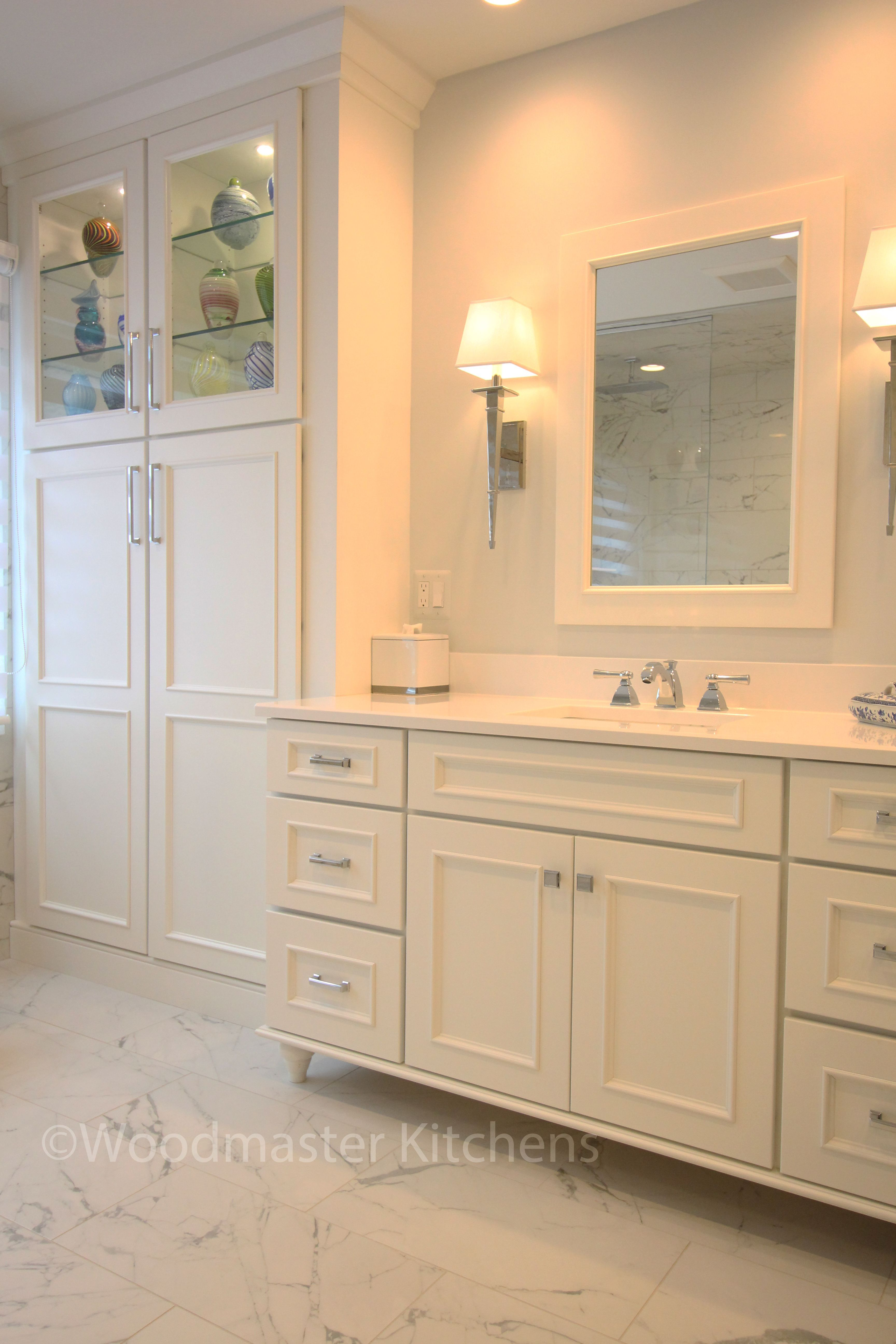 This Sophisticated Master Bathroom Design Complements The Large