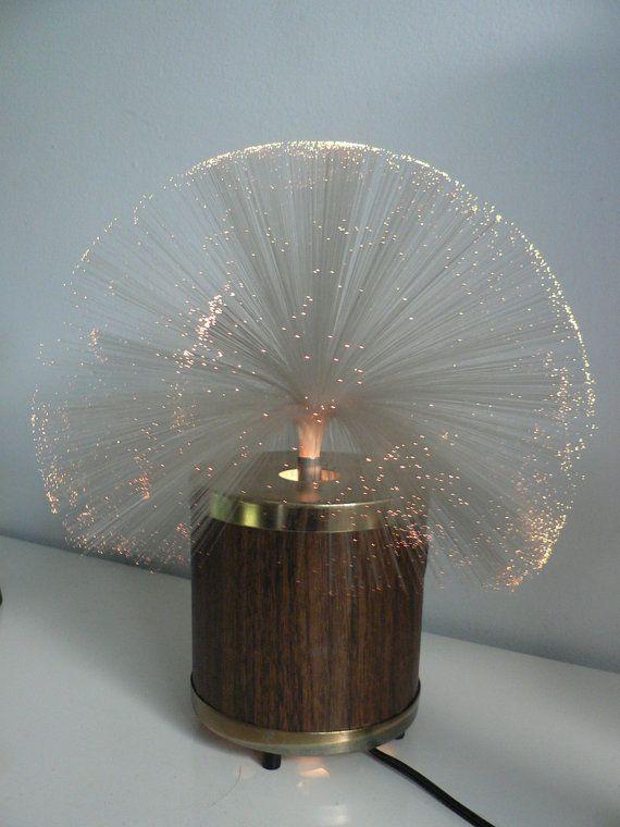 Vintage 1970s Fiber Optic Rotating Lamp Remember How