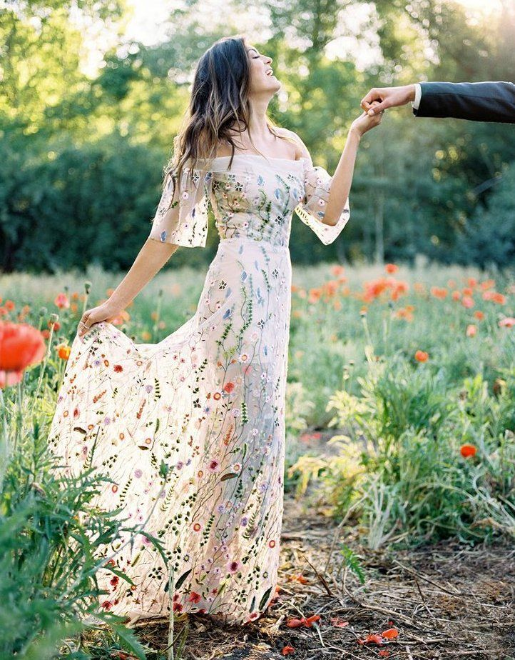 You Belong Among The Wildflowers Wedding Inspiration Weddingdress In 2020 Wedding Dress Trends Embroidered Wedding Dress Embroidered Wedding