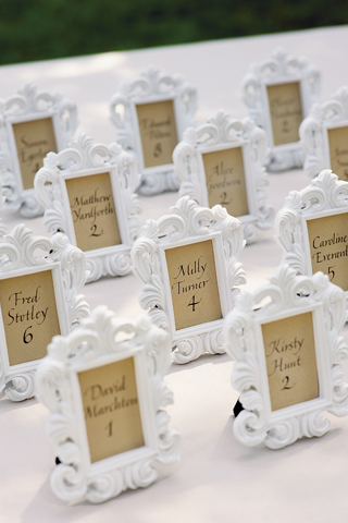 favor and seating cards in one - Mini Picture Frame