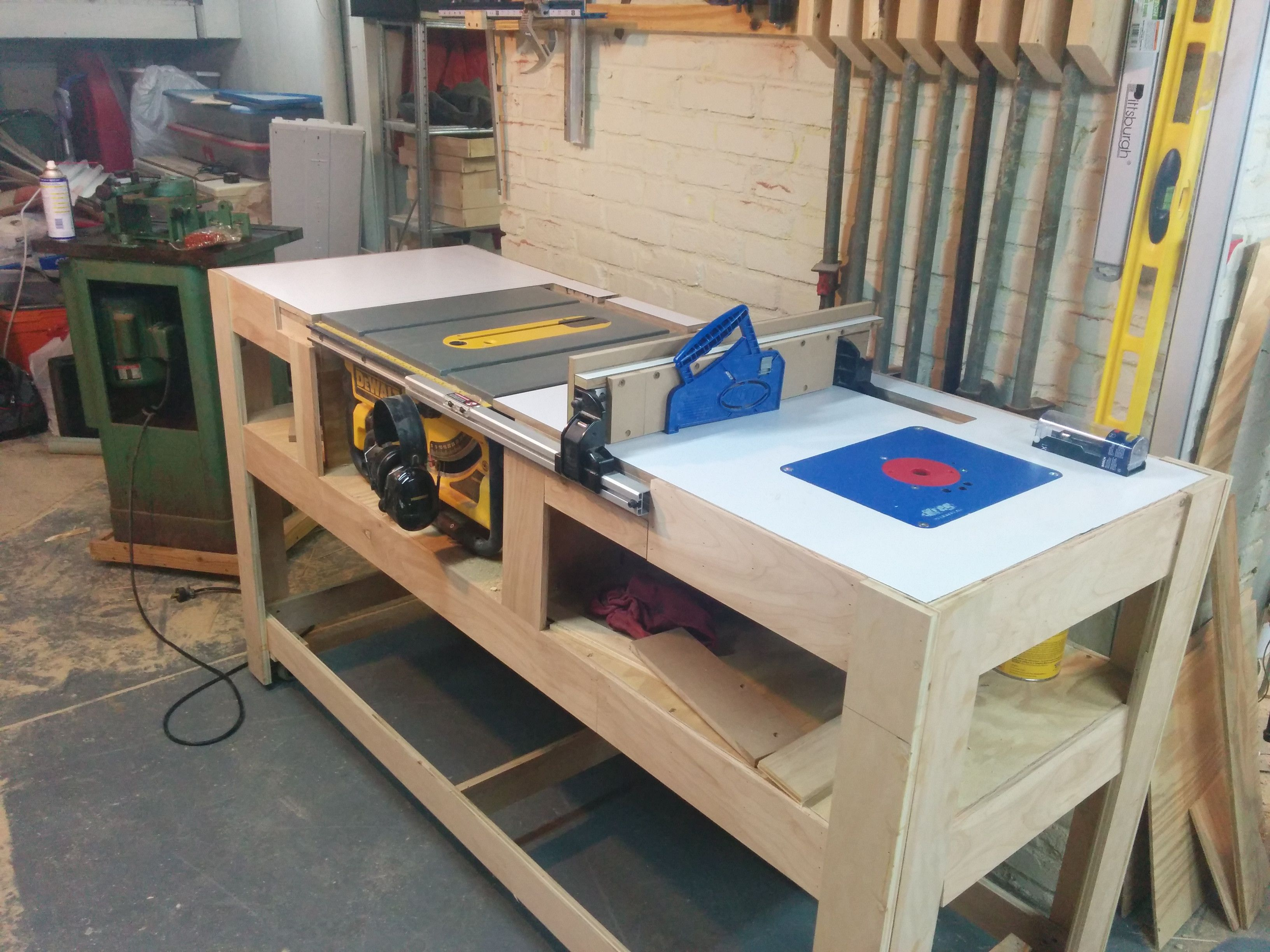 Table saw station album woodworking and bench for Router work table