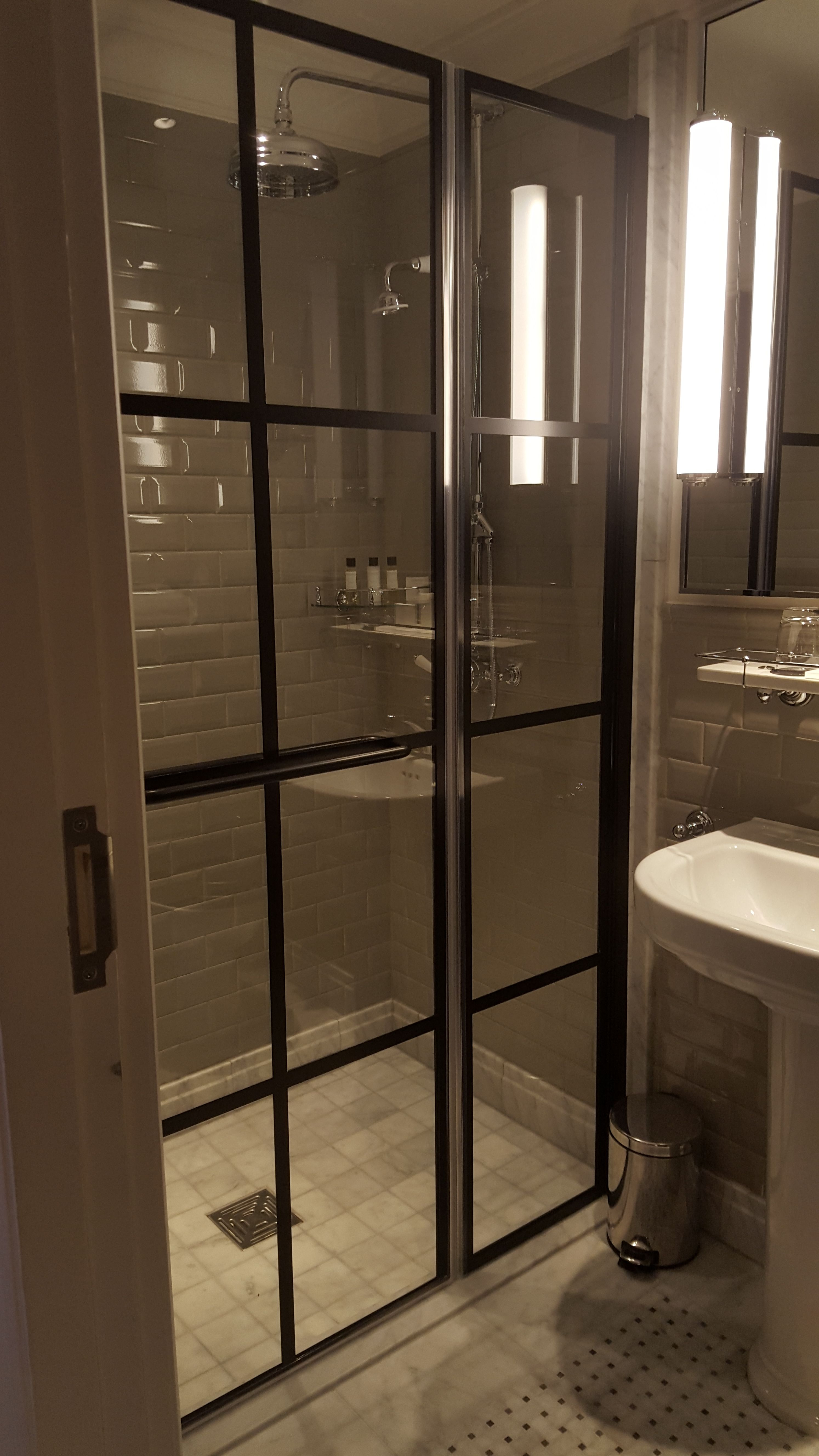 A Closer View Of A Fantastic Modern Black Framed Shower Enclosure