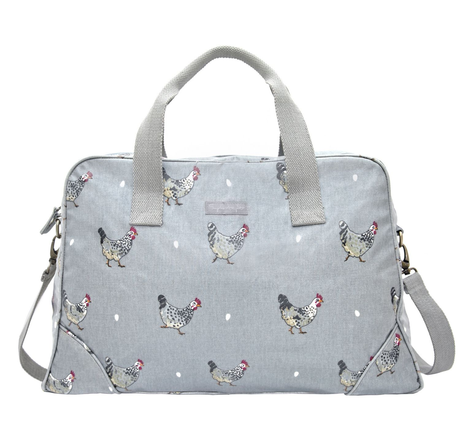 Kitchen Garden Hens A Wonderful Oilcloth Bag Featuring Some Quirky Speckled Maran Hens