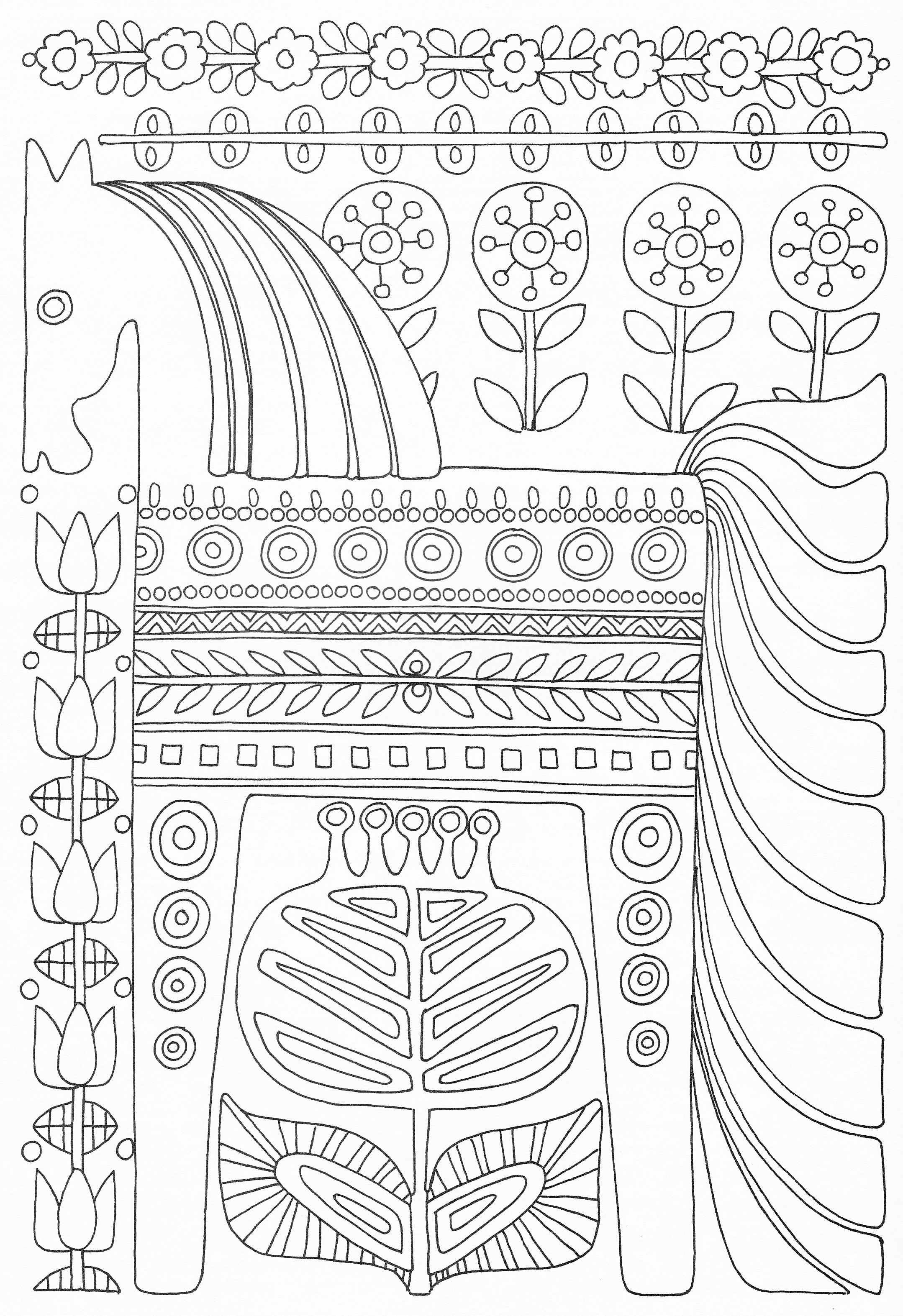 Scandinavian Coloring Book Pg 49 | Láminas | Pinterest