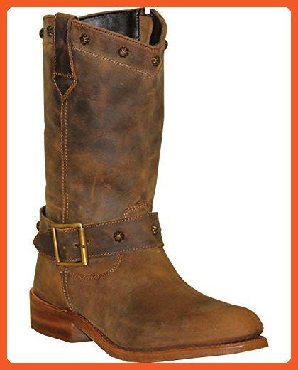 4ff77dbe11310 Abilene Women's Sage Strap Wellington Boot Round Toe Brown 7 M US ...