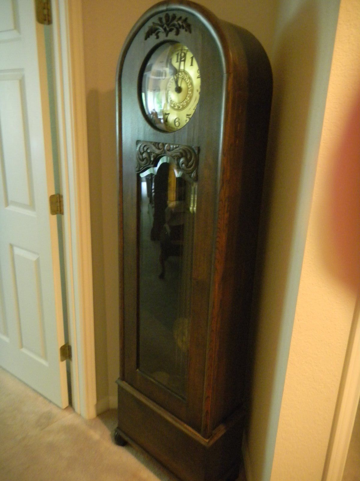 An Antique Early 1900 S Gustav Becker German Grandfather Clock Great