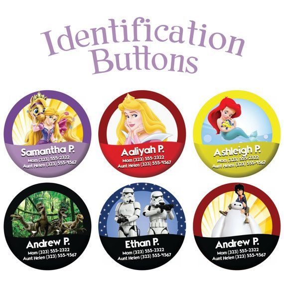Identification Buttons by Wickedandco on Etsy