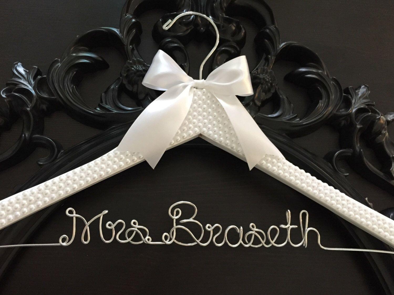 Bridal Hanger / Bride Hanger / Wedding Hanger / PEARL