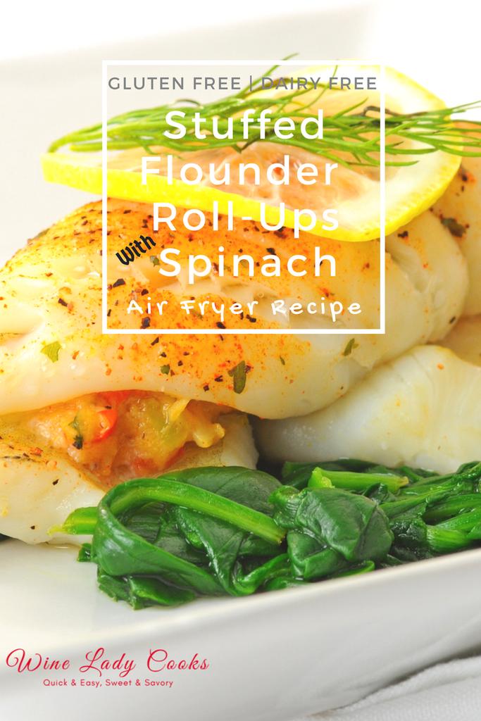 Air Fryer Stuffed Flounder Roll Ups Recipe Air Fryer