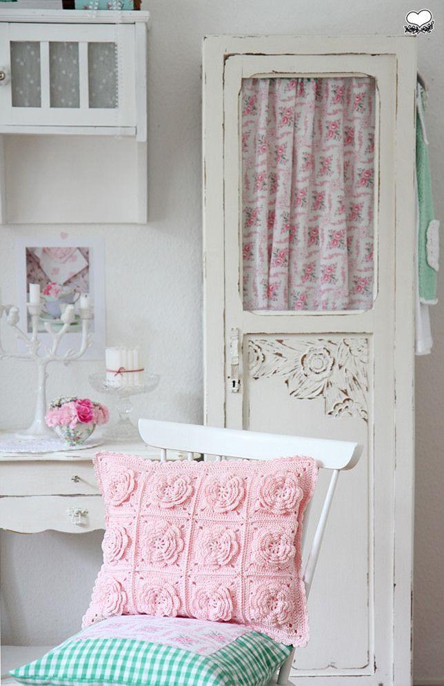 Crochet Flower Cushion | Flickr - Photo Sharing!