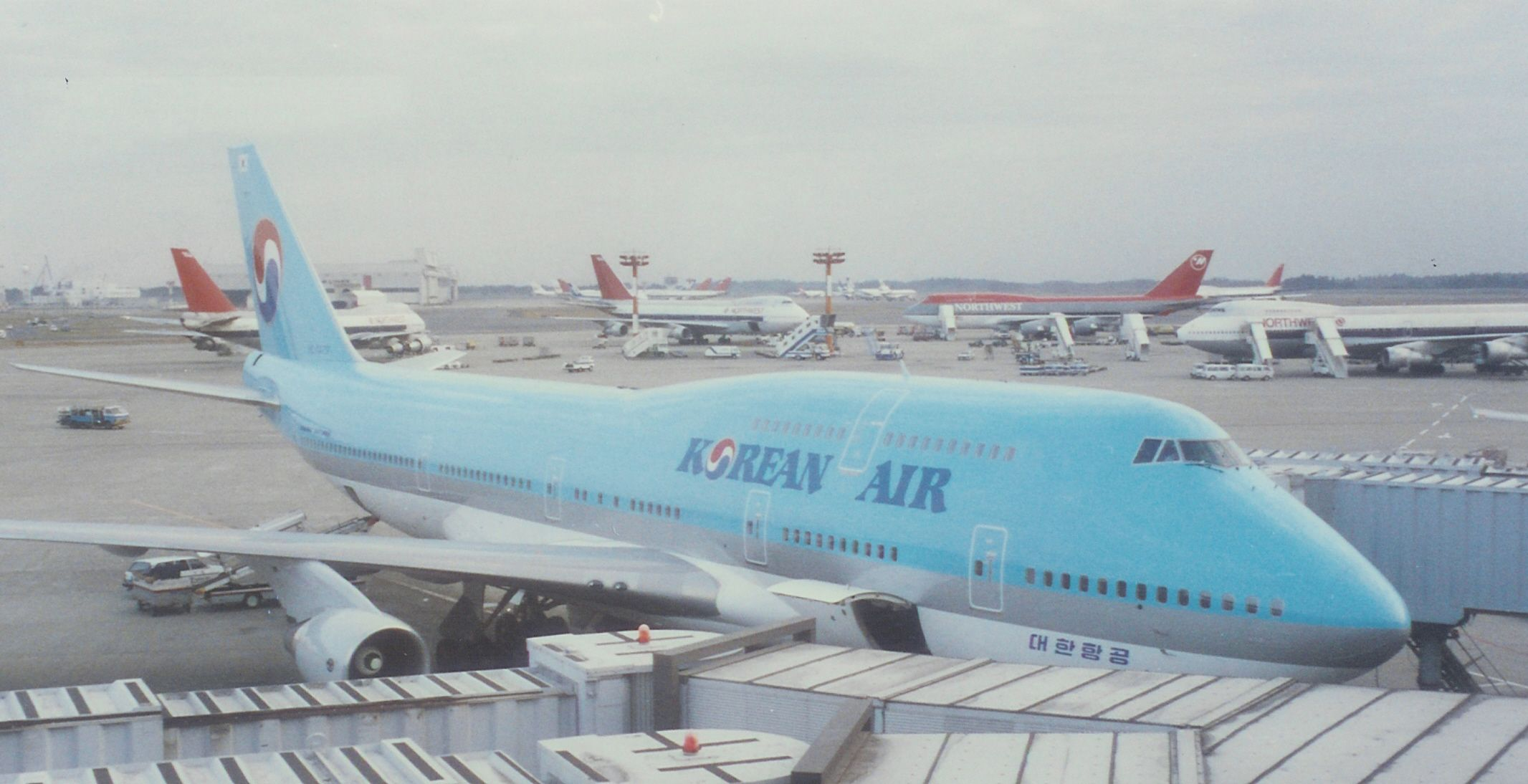Korean Air Boeing at Tokyo-Narita International Airport,