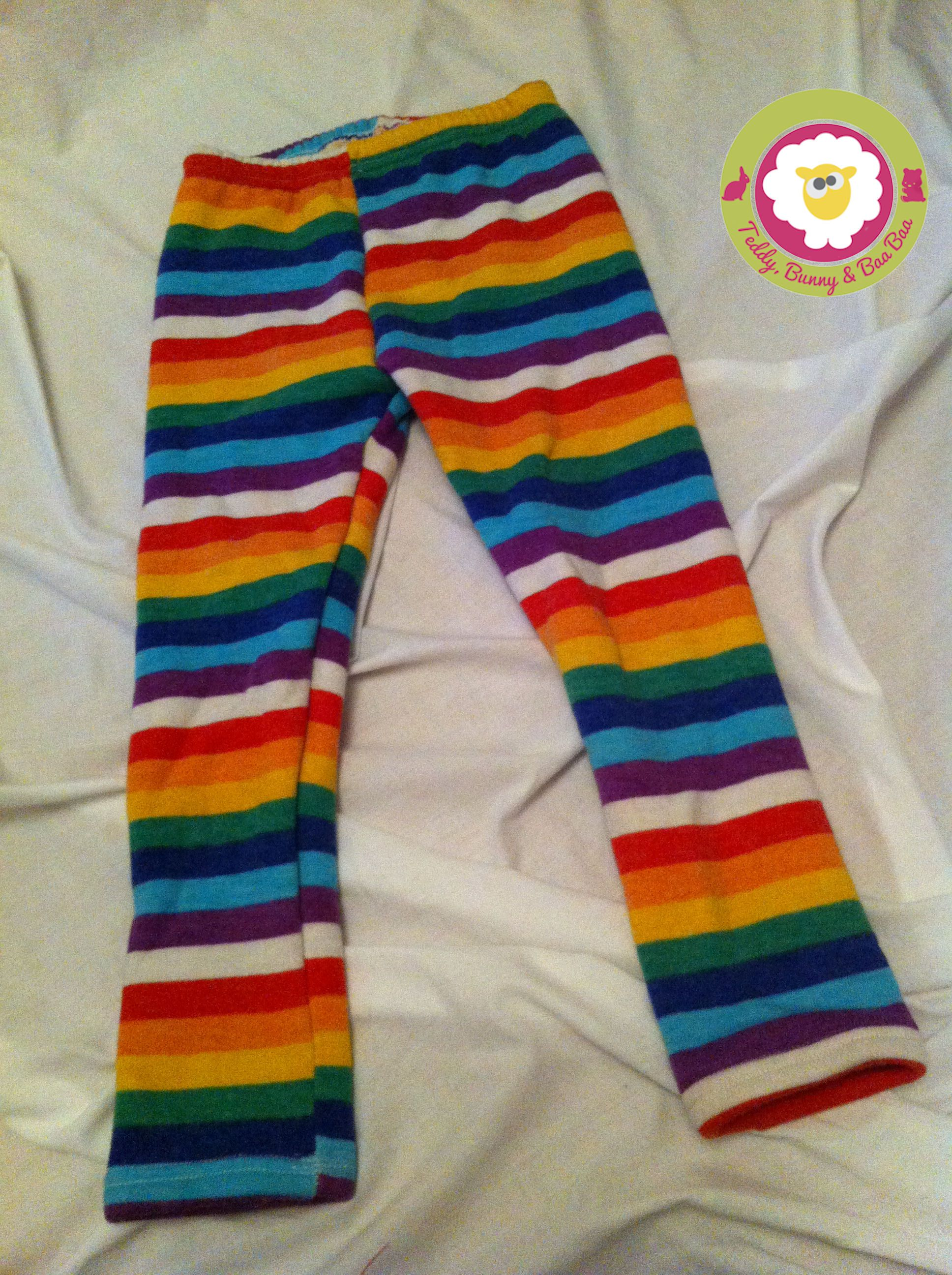 Rainbow Leggings £10.99 plus p+p from www.teddybunnyandbaabaa.com <3