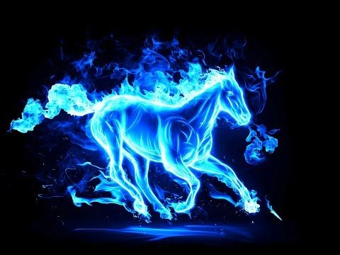 Hologram Video 3d 2018 Amazing 4k Youtube In 2020 Fire Horse Abstract Horse Horse Wallpaper