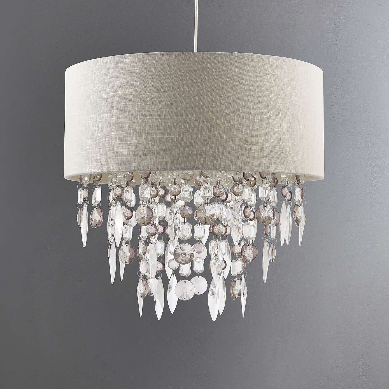 Mila Ivory Light Shade Crystal Light Shade Light Shades Dunelm