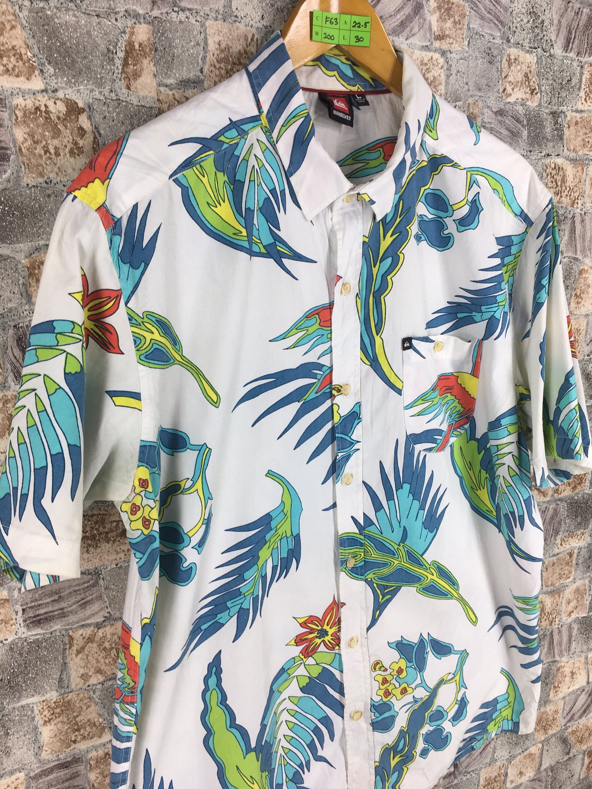 90b65fe57 #clothing #men #shirt #surfinghawaiian #quiksilverhawaii #quiksilvershirt  #vintagequiksilver #floralhawaiian #rayonhawaiian
