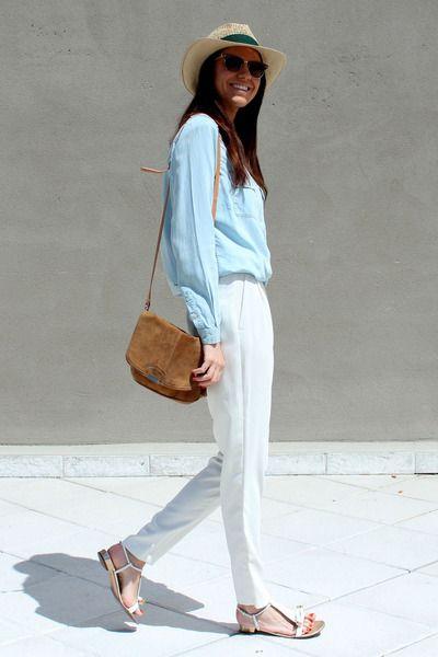 White Pants White Pants Light Blue Shirts Light Blue Pants