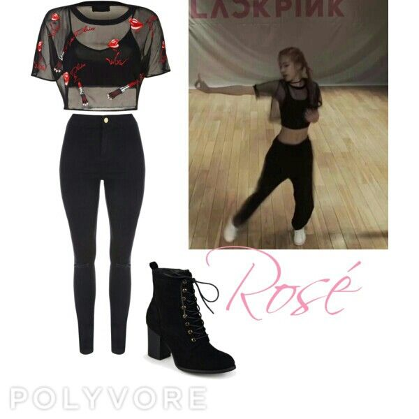 c4ee87334ada1 Rosé (Blackpink) inspired outfit from the dance practice of whistle. By: Me