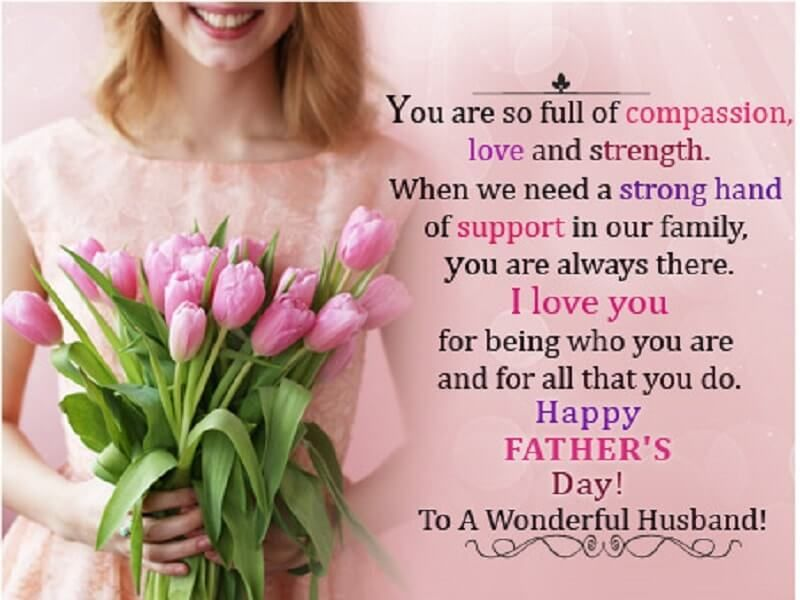 Inspirational Father Quotes From Wife Happy Father Day Quotes