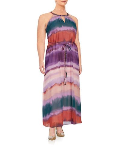 Jessica Simpson Plus Plus Embellished Maxi Dress Women's Purple 3X