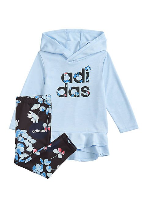 adidas Baby Girls Hoodie and Legging Set