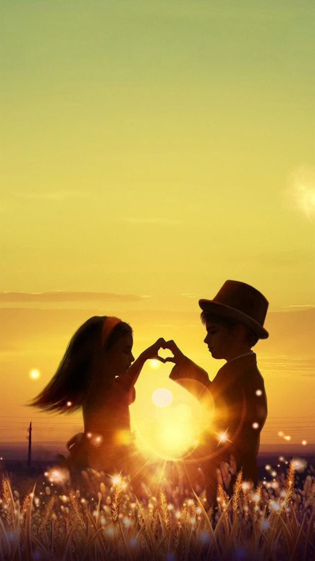 Sunset Love Cute Kids Couple Sunlight Flowers Field Field Sunset Dandelions Cute Dusk Ki In 2020 Love Couple Wallpaper Cute Couple Wallpaper Cute Love Wallpapers