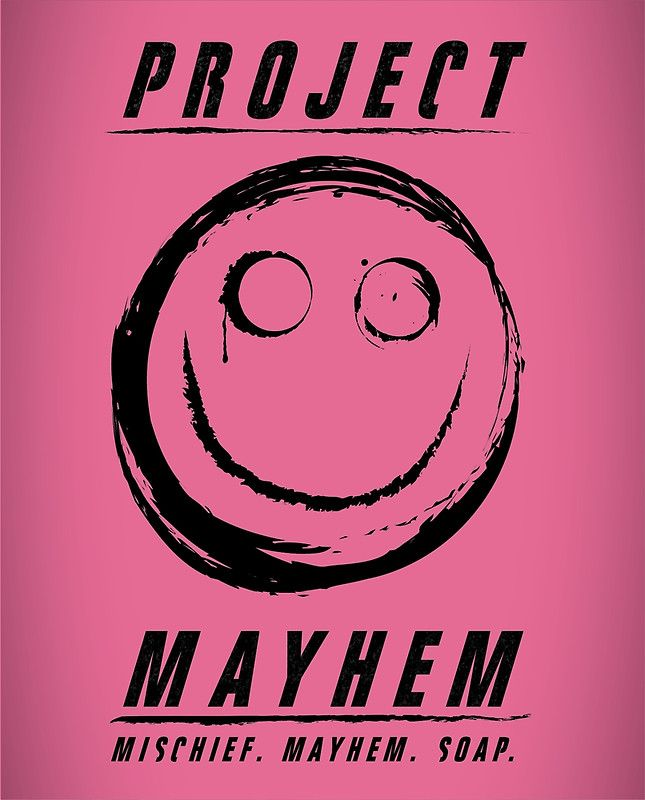 Project Mayhem. Design by Jack Allum. Available as T-Shirts & Hoodies, Stickers, iPhone Cases, Samsung Galaxy Cases, Posters, Home Decors, Tote Bags, Prints, Cards, iPad Cases, and Laptop Skins