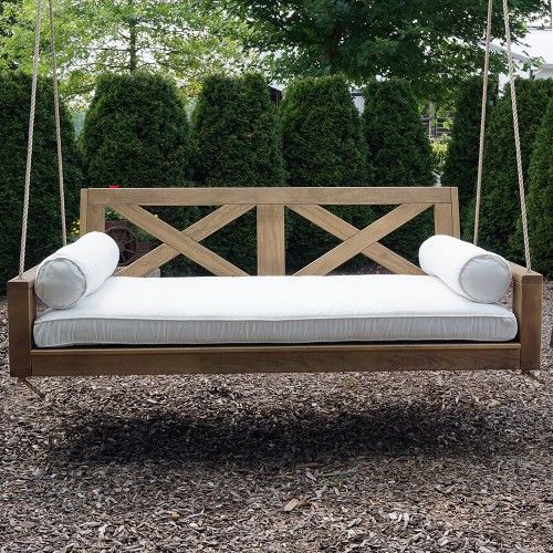 Front Porch Swings Farmhouse Exterior: Breezy Acres Malvern Porch Swing Bed