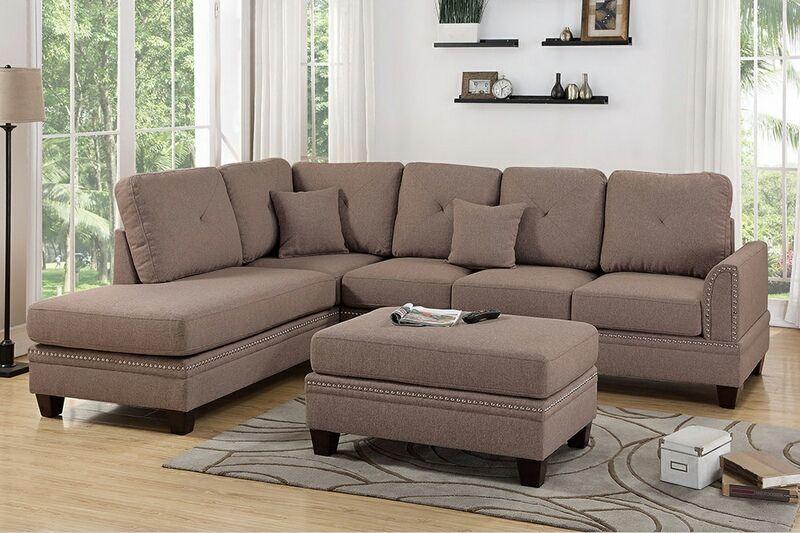 Sectional Sofa With Nailhead Trim