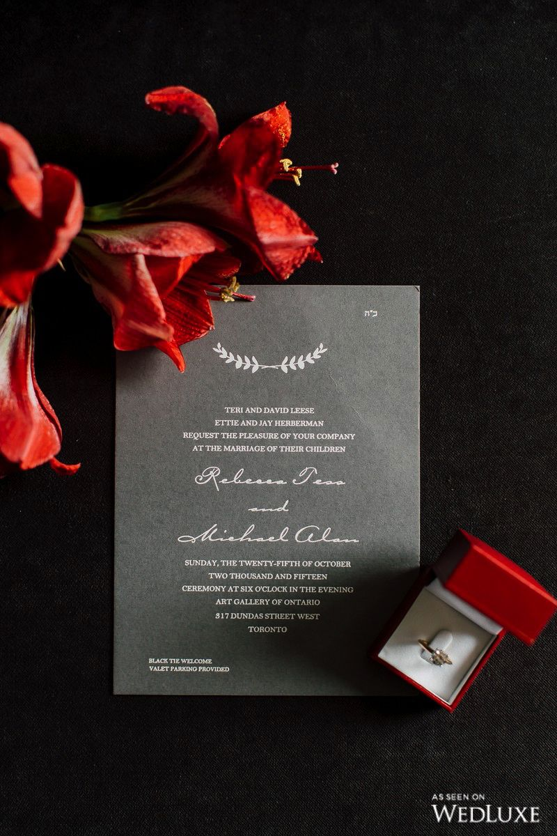 This simple #invitation is perfect for a fall wedding! We love how ...