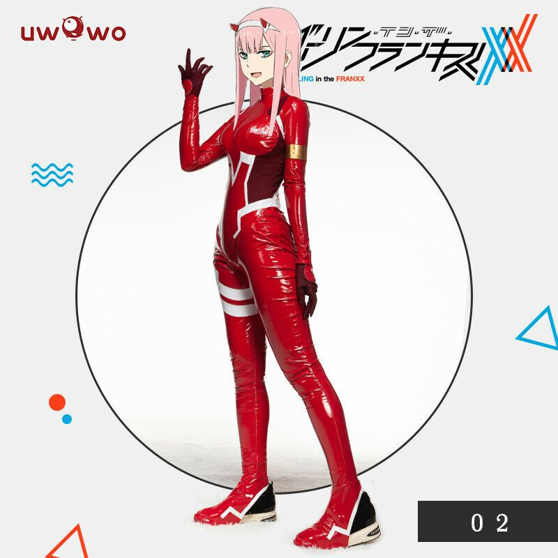 Darling in the Frankxx 02 Zero Two Halloween Cosplay Bodysuit Adult Child